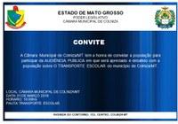 Convite para Audiência Publica