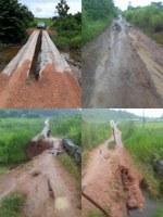 Vereador cobra reparos em pontes da zona rural de Colniza
